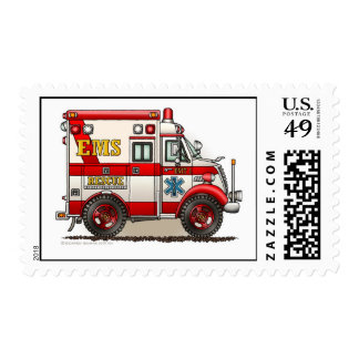 Ambulance EMS Box Truck Stamps