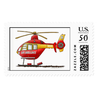 Ambulance EMS Rescue Helicopter Stamps