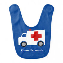 Ambulance | Future Paramedic | Personalized Baby Bib