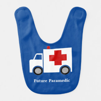 Ambulance   Future Paramedic   Personalized Baby Bib