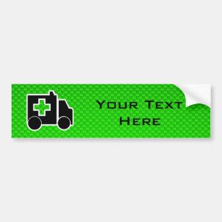 Ambulance; Green Car Bumper Sticker