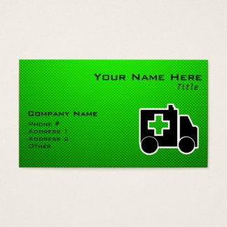 Ambulance; Green Business Card
