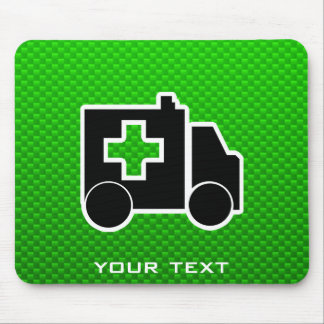 Ambulance; Green Mouse Pad