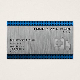 Ambulance; Metal-look Business Card