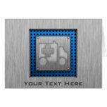 Ambulance; Metal-look Greeting Card