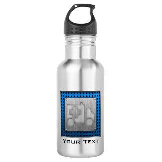 Ambulance; Metal-look 18oz Water Bottle