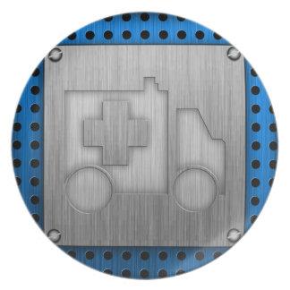 Ambulance; Metal-look Plates