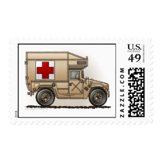 Ambulance Military Hummer Stamps