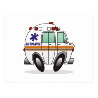Ambulance Postcard