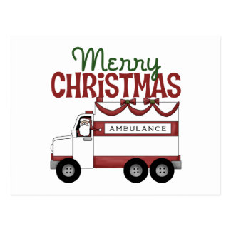 Ambulance/Rescue Christmas Postcards
