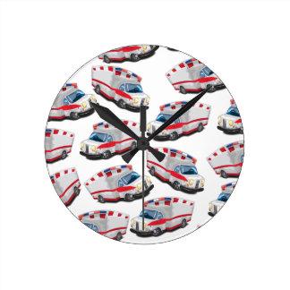 Ambulance Round Clock