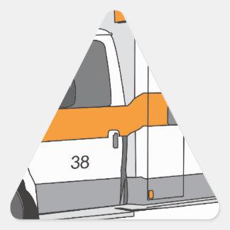 Ambulance Triangle Sticker