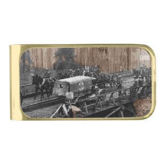 Ambulance Trucks at Western Front Gold Finish Money Clip