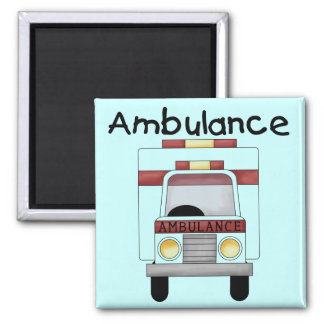 Ambulance Tshirts and Gifts 2 Inch Square Magnet