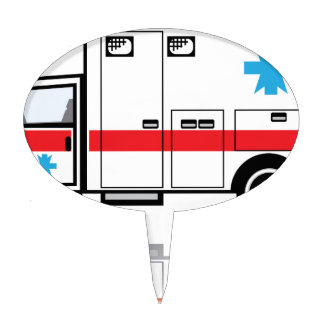 Ambulance vector cake topper