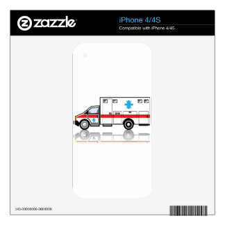 Ambulance vector decals for the iPhone 4S