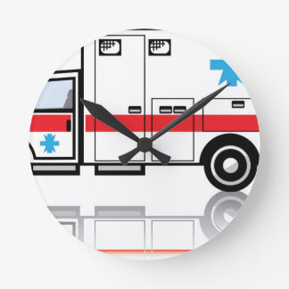 Ambulance vector round clock