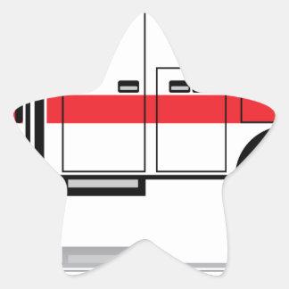 Ambulance vector star sticker