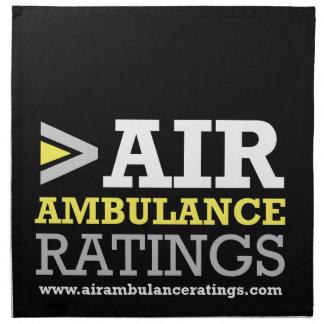 Ambulancia aérea y grados Medical Flights Company Servilleta