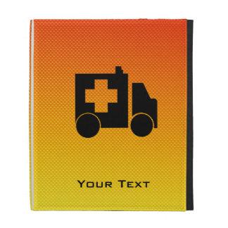 Ambulancia amarillo-naranja