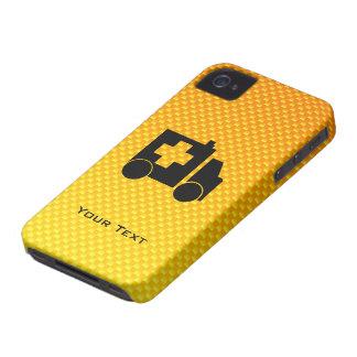 Ambulancia amarillo-naranja iPhone 4 carcasas