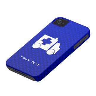 Ambulancia azul iPhone 4 Case-Mate protectores