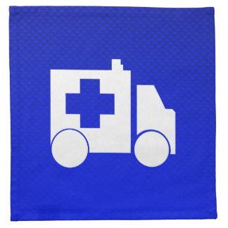 Ambulancia azul servilletas imprimidas