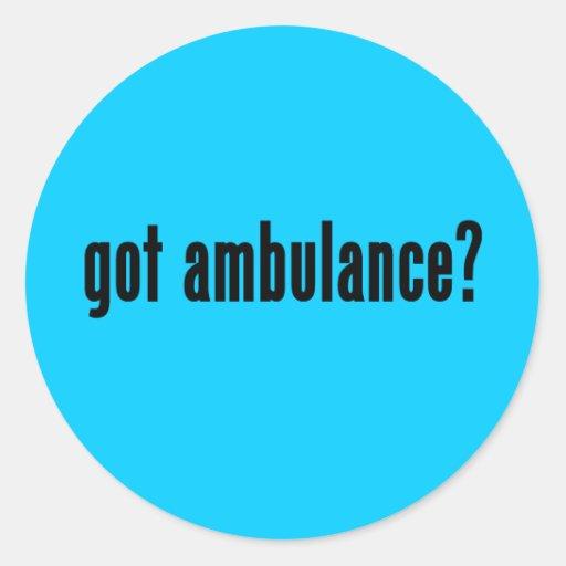 ¿ambulancia conseguida? pegatina redonda