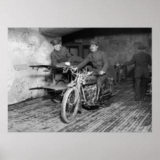 Ambulancia de la motocicleta WW1 Póster