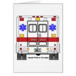 Ambulancia de los servicios médicos de la emergenc felicitación