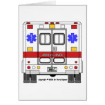 Ambulancia de los servicios médicos de la emergenc tarjeta de felicitación