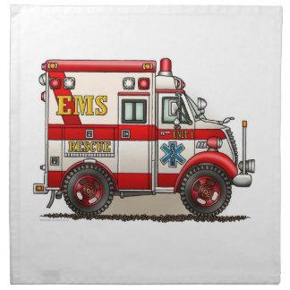 Ambulancia del camión de la caja servilletas