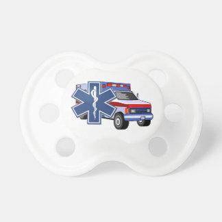 Ambulancia del ccsme chupete de bebé