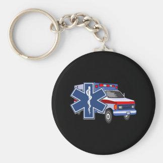 Ambulancia del ccsme llavero redondo tipo pin
