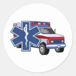 Ambulancia del ccsme pegatina redonda