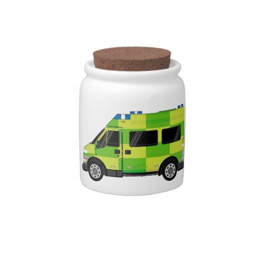 Ambulancia del dibujo animado