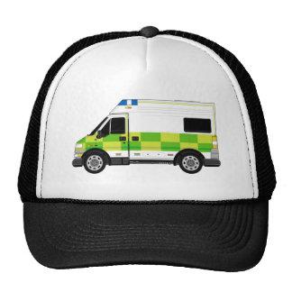 Ambulancia del dibujo animado gorra