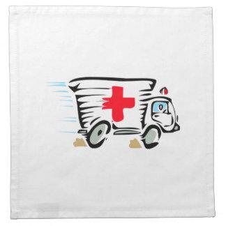 Ambulancia del dibujo animado servilleta de papel