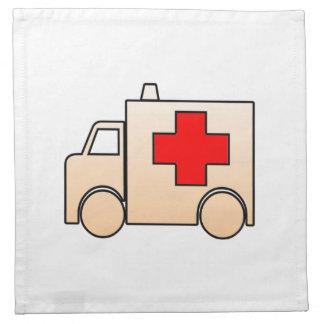 Ambulancia del dibujo animado servilletas