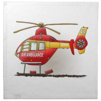 Ambulancia del helicóptero servilletas