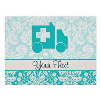 Ambulancia del trullo impresiones