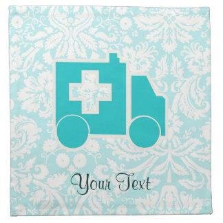 Ambulancia del trullo servilleta imprimida