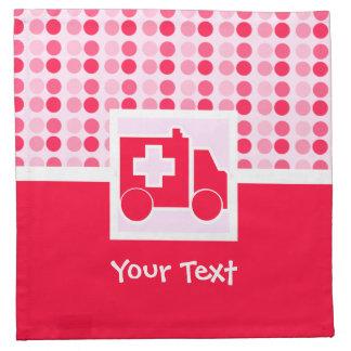 Ambulancia linda servilleta imprimida