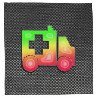 Ambulancia lisa servilletas