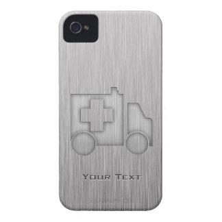 Ambulancia; Metal-mirada iPhone 4 Cárcasas