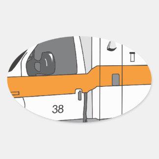 Ambulancia Pegatina Oval