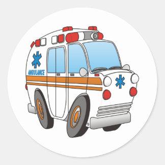 Ambulancia Pegatina Redonda