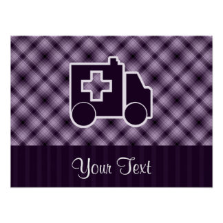 Ambulancia púrpura póster