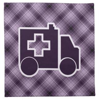 Ambulancia púrpura servilleta imprimida
