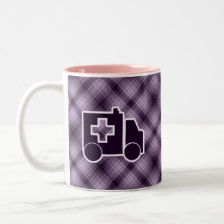 Ambulancia púrpura taza de dos tonos